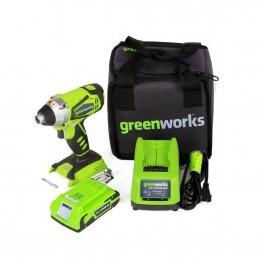 GREENWORKS G24IDΠΑΛΜΙΚΟ ΚΑΤΣΑΒΙΔΙ 24V 2.0Ah ΣΕ ΒΑΛΙΤΣΑ (#3802207)