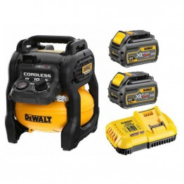 DEWALT DCC1054T2-QW 54V XR FLEXVOLT BRUSHLESS ΑΕΡΟΣΥΜΠΙΕΣΤΗΣ 10LT (#DCC1054T2)